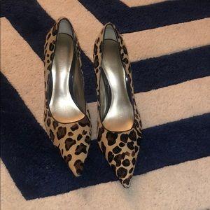 Leopard Hair (faux) Pumps